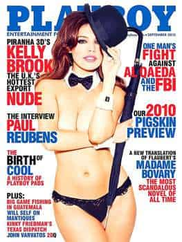 Kelly Brook uses Playboy cover to get through US customs