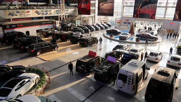 File Photo: Imported vehicles are seen at a car dealership in Tianjin bonded zone, China.