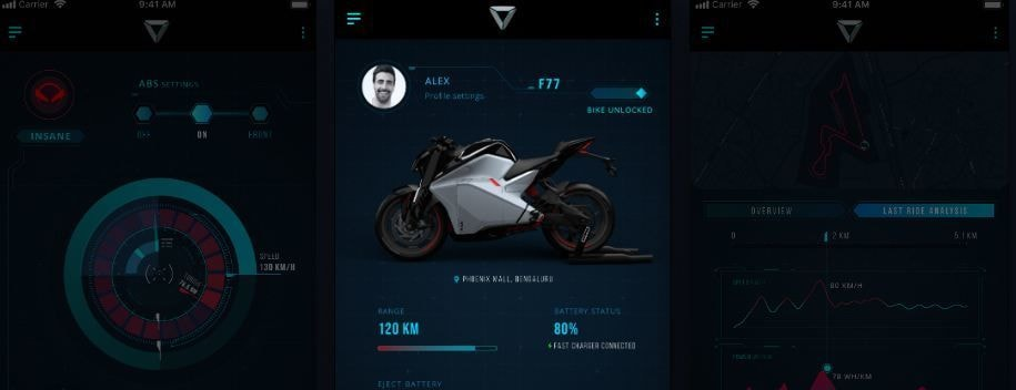 Ultraviolette Automotive touts the F77 as a connected bike. It comes with ride telematics, remote diagnostics, ride analytics and bike tracking features.
