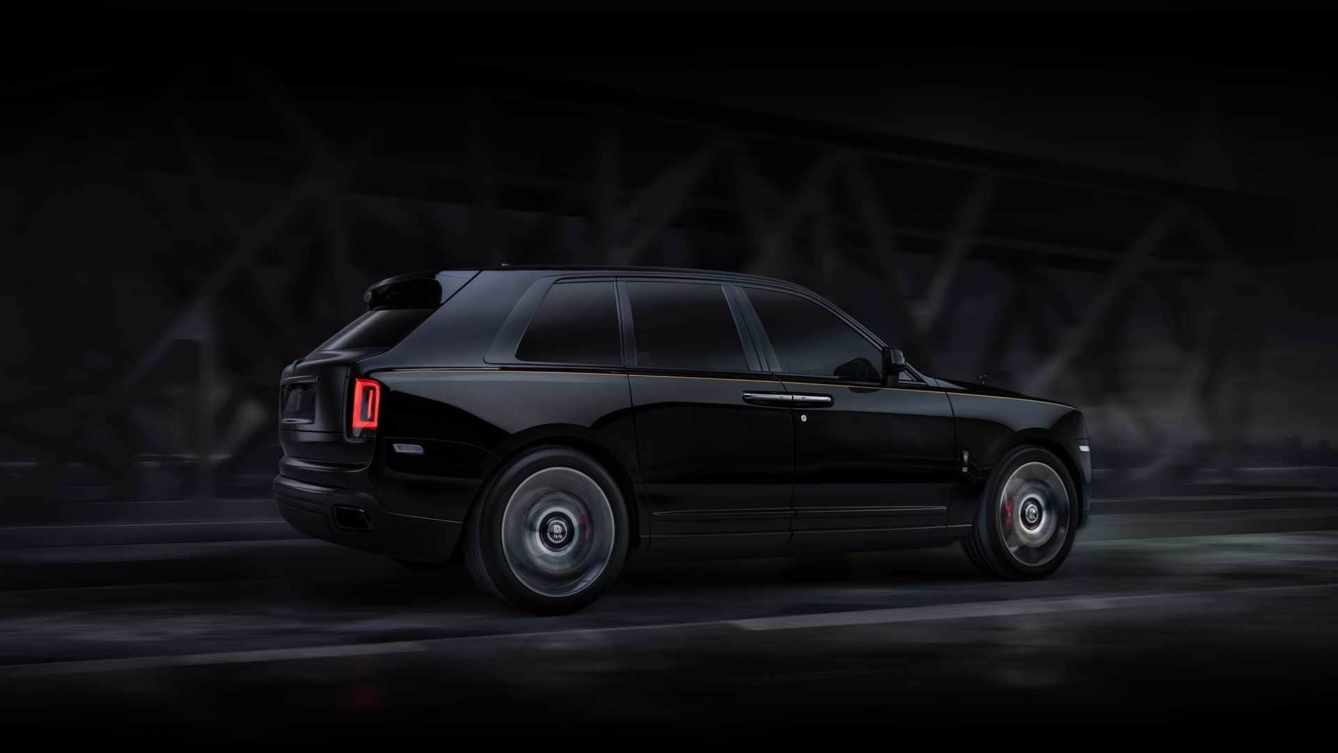 The British carmaker has given a complete dark makeover to its popular SUV.
