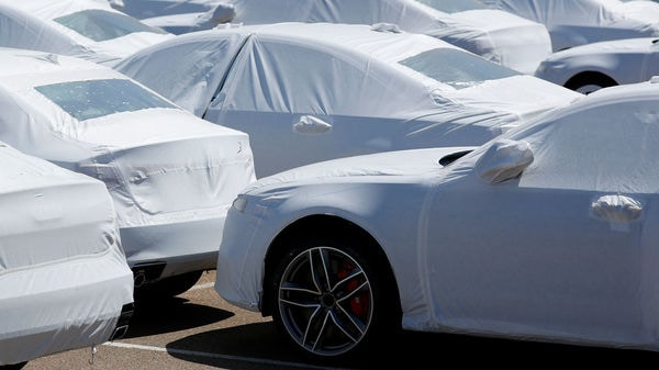 Audi vehicles sit waiting for delivery after their arrival in the United States in National City, California, U.S. (Reuters)