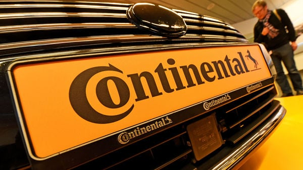 FILE PHOTO: Logo of German tyre company Continental