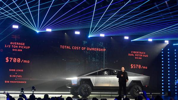 Tesla CEO Elon Musk unveils the Cybertruck (Reuters)