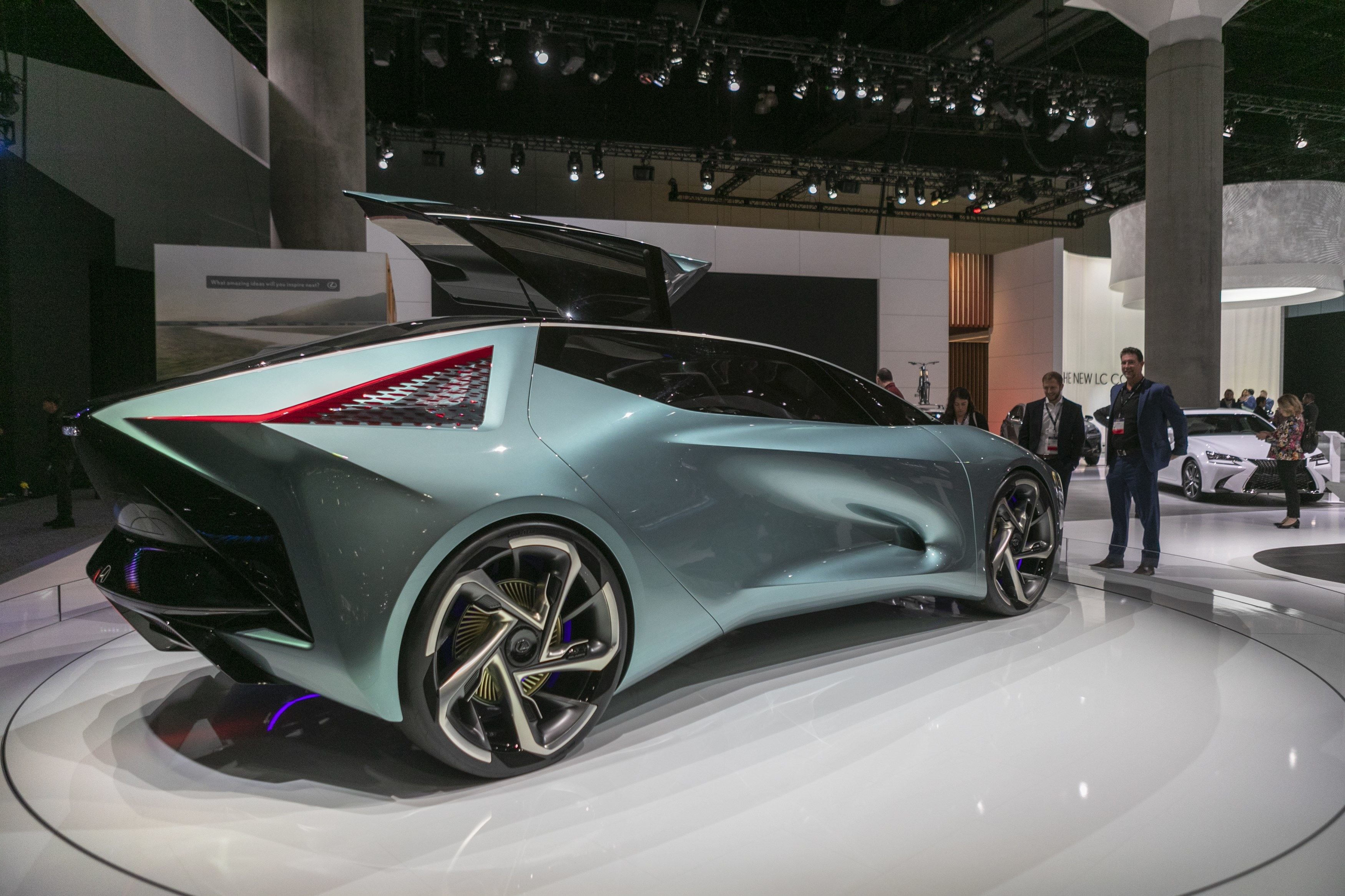 Through the LF-30, Lexus says it is trying to show its vision of automobile electrification. (AFP)