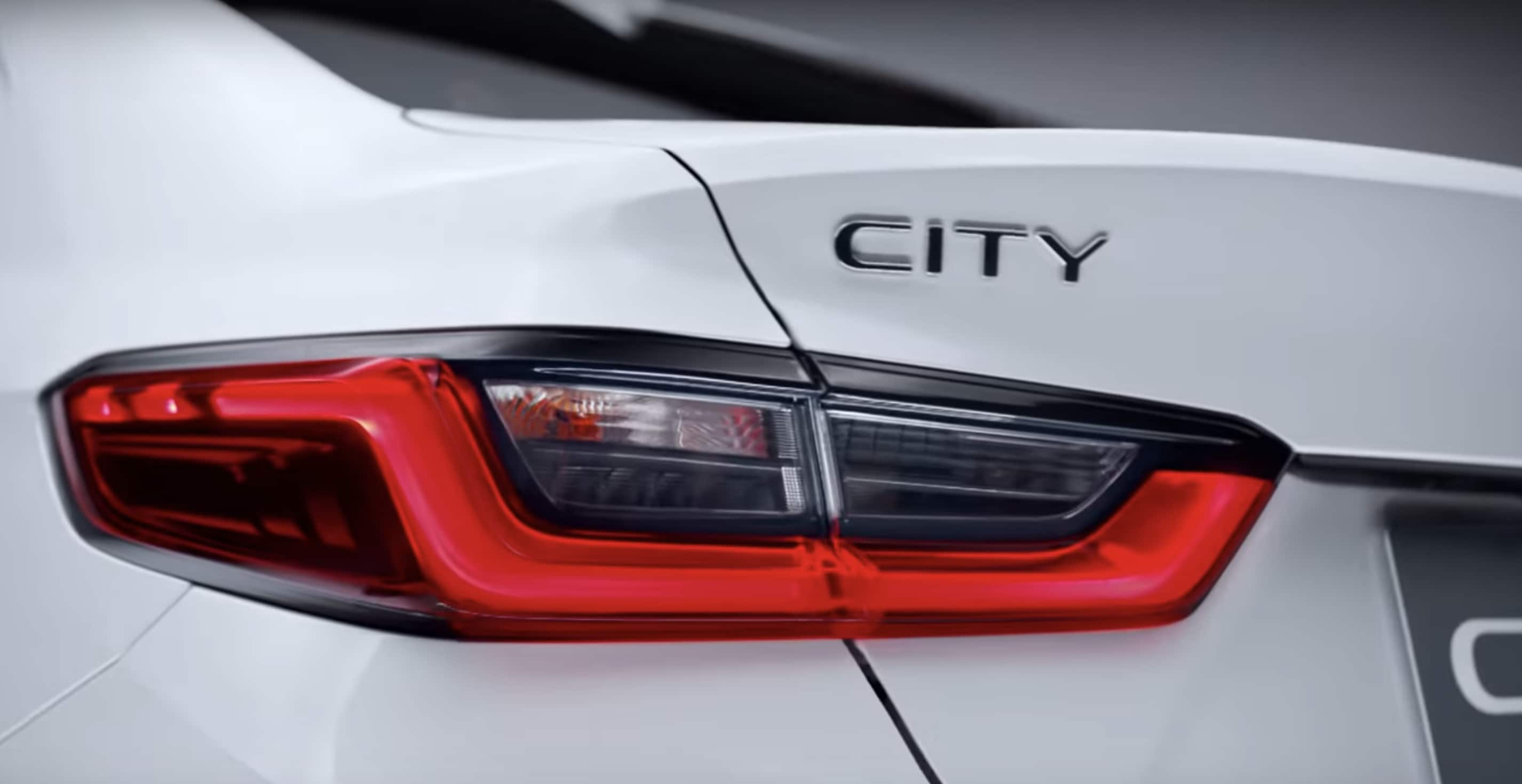 The rear lights on the 2020 City gets LED elements. Photo courtesy: Youtube/Honda Thailand