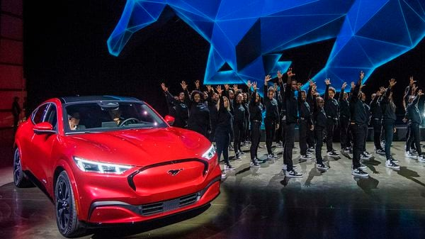 Ford reveals its first mass-market electric car the Mustang Mach-E. (AFP)