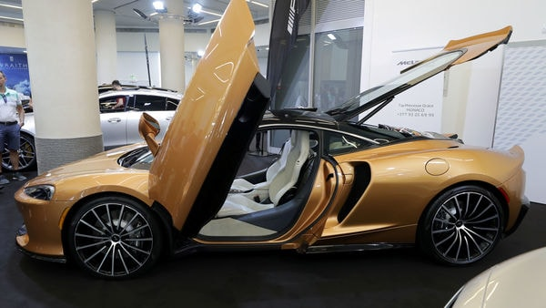 FILE PHOTO: The McLaren Grand Tourer is seen during a world premiere at the Top Marques fair in Monaco.