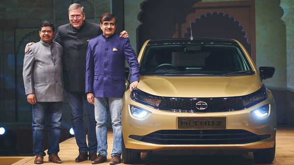 From Left to Right- Mr. Rajendra Petkar, Chief Technology Officer, Tata Motors, Mr. Guenter Butschek, CEO & Managing Director, Tata Motors and Mr. Mayank Pareek, President - Passenger Vehicle Business Unit (PVBU).