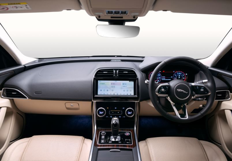 Jaguar says its designers have gone the extra mile to give the inside of the new XE a sporty appeal. The wraparound dash, slightly lifted centre console and seats which now have even better back and side cushioning, the new XE cocoons passengers in even more comfort.