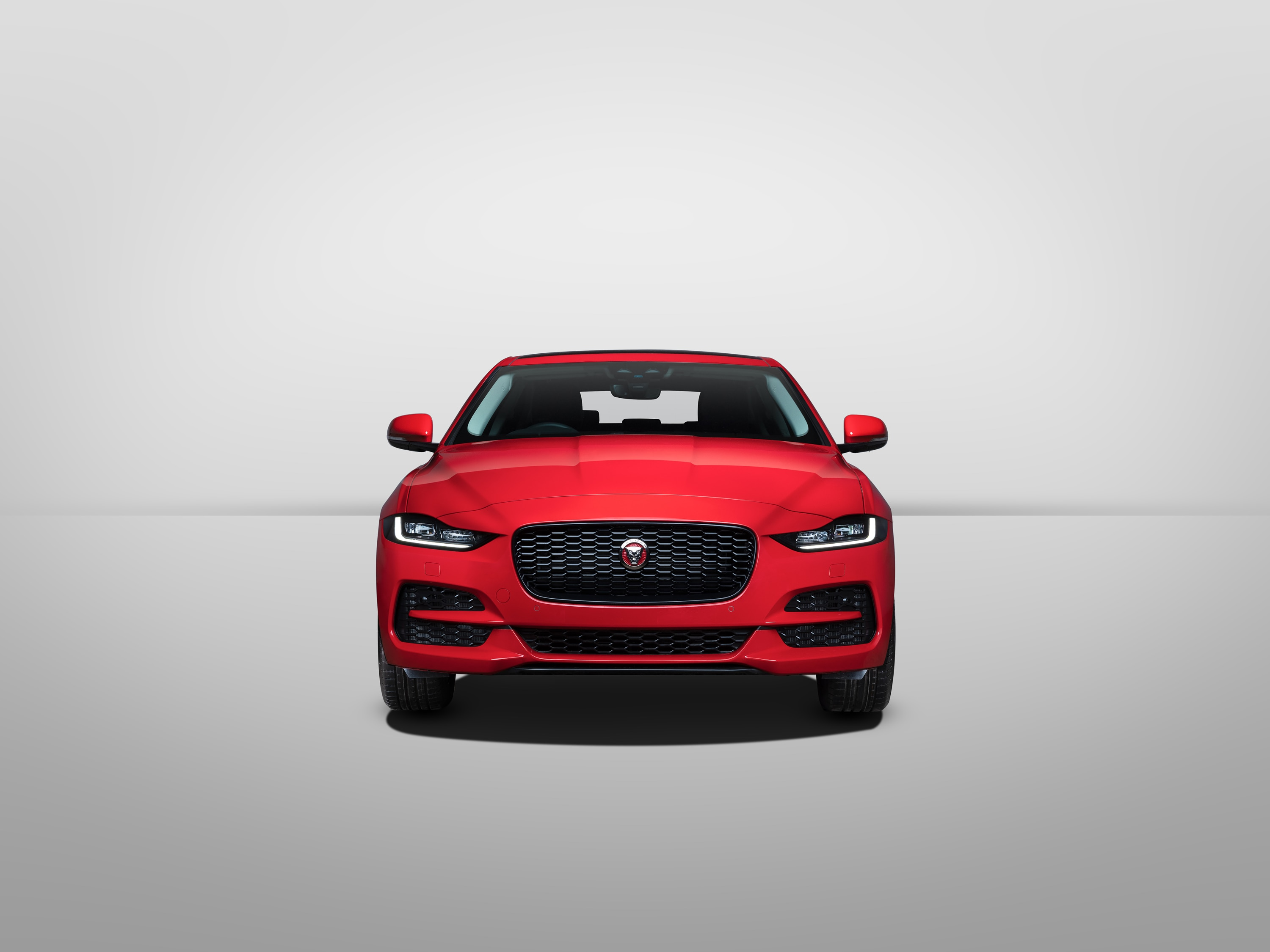The new XE gets a larger front grille, sleeker LED headlights and a sculpted bonnet which accentuates its athletic appeal.