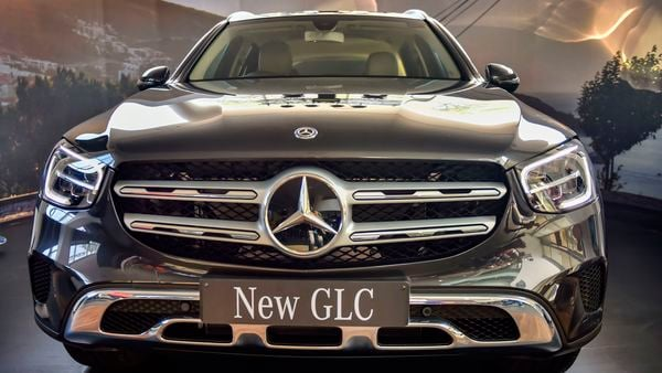 Newly launched Mercedes Benz SUV GLC on display in New Delhi. (PTI)
