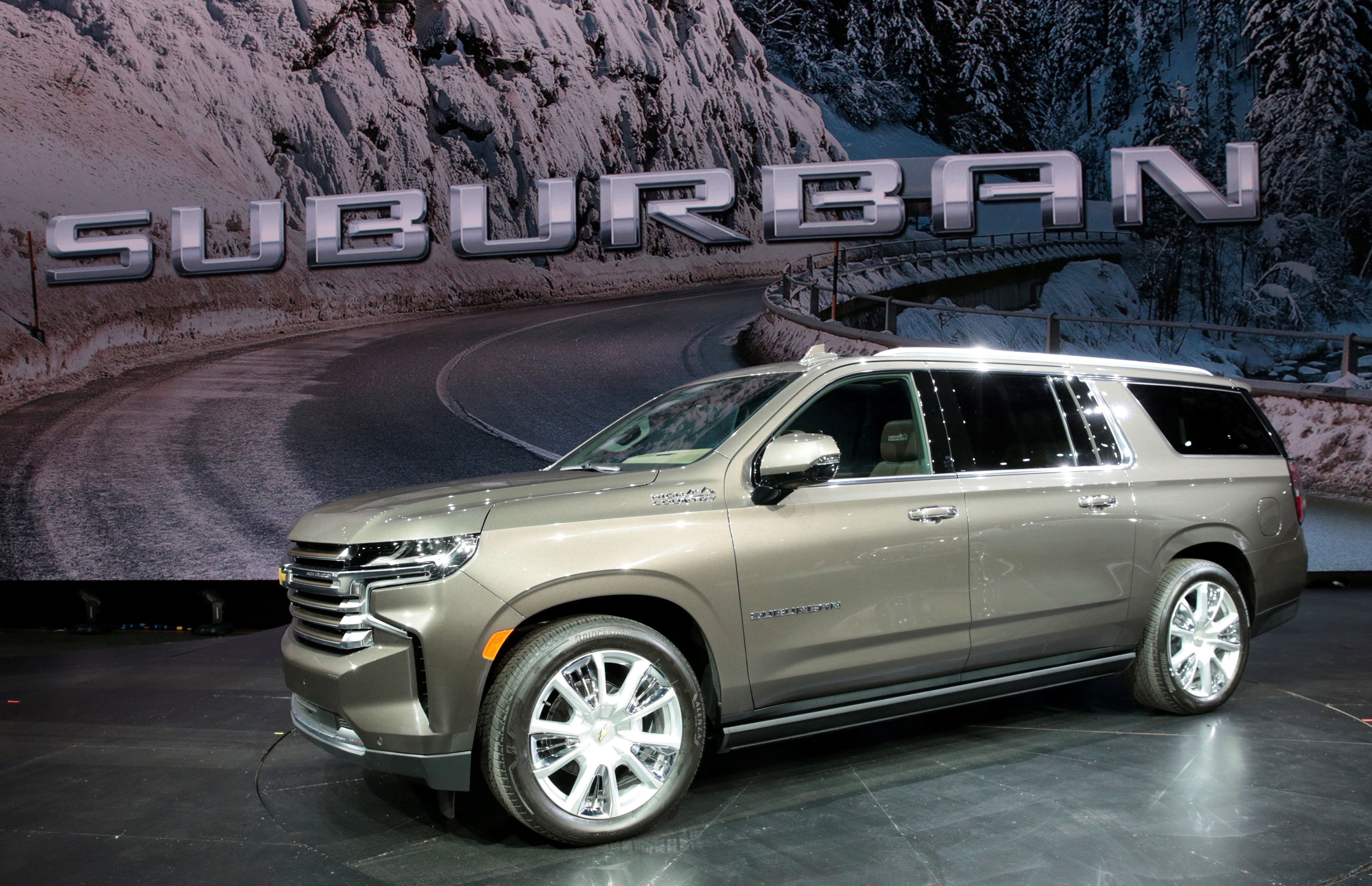 The new Chevy Suburban will grow by 1.3 inches to 225.7 inches long - making it one of the longest passenger vehicles on the market (REUTERS)