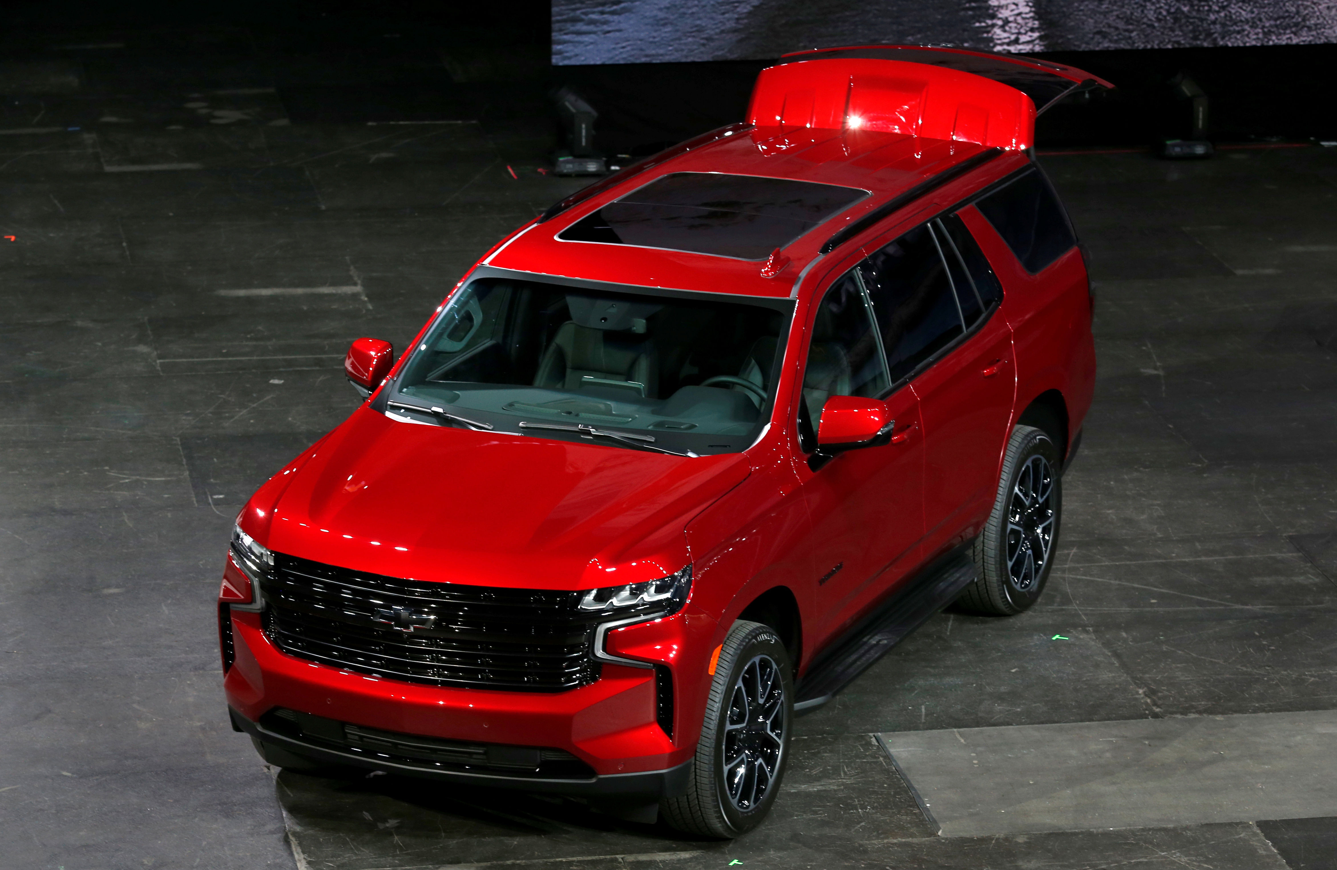 The 2021 Chevrolet Tahoe is 6.7 inches longer than the current Tahoe (REUTERS)
