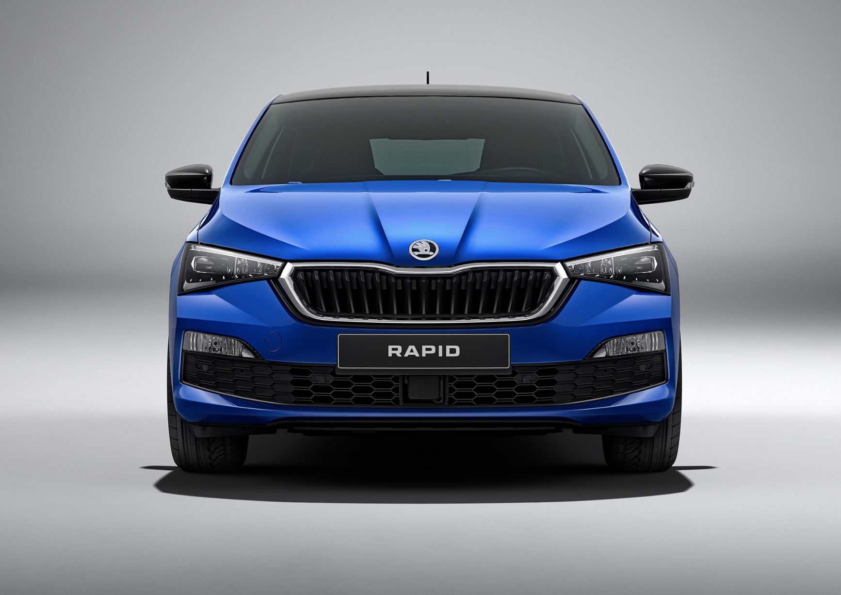 The front of the new Skoda Rapid now gets a distinct personality with sharply defined edges