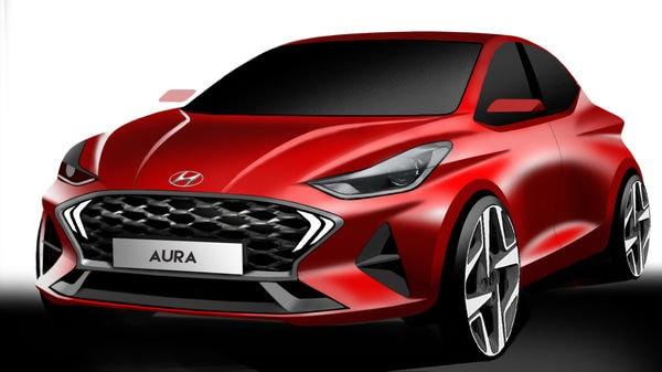 Hyundai Aura's design render.