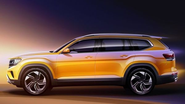 Volkswagen released sketches of the new Atlas SUV. (Photo courtesy: Volkswagen AG)
