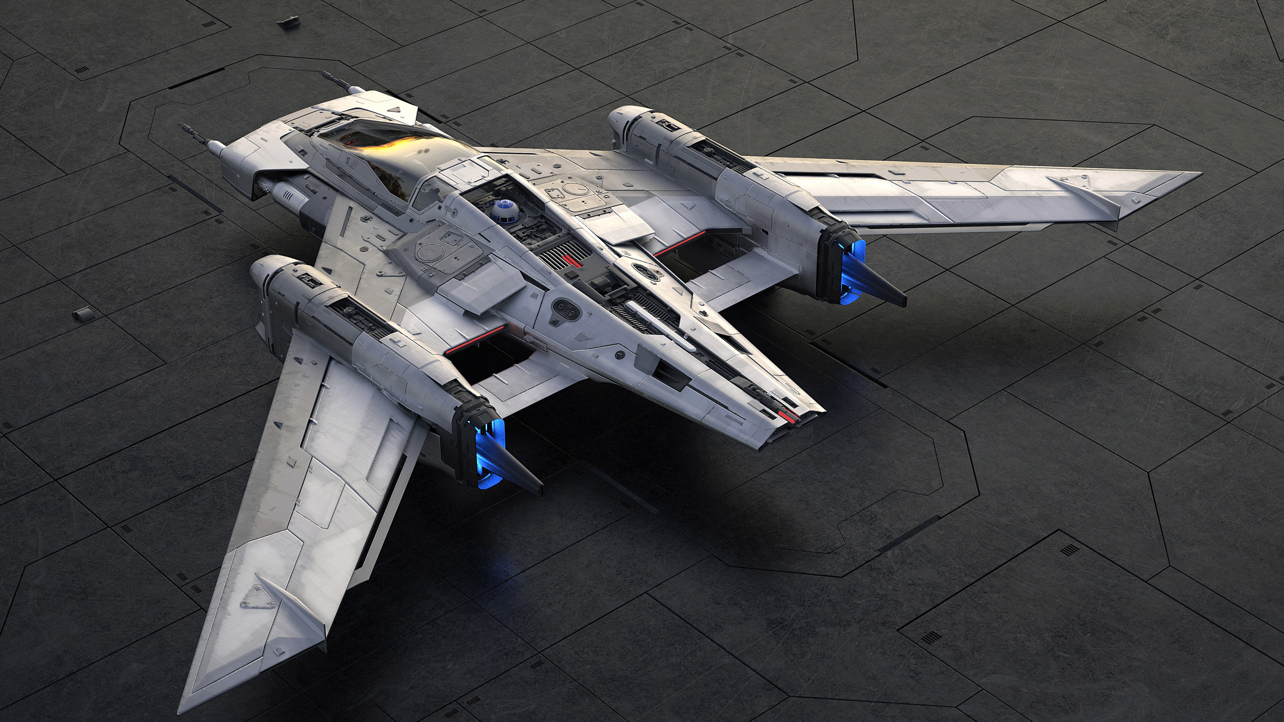 The fantasy starship, named Tri-Wing S-91x Pegasus Starfighter, will be featured as a 5-feet scale model at the film premiere. (Photo courtesy: newsroom.porsche.com)