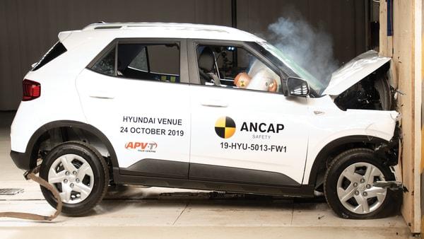 Hyundai Venue secured 4 stars in the ANCAP safety test. (Photo courtesy: ancap.com.au)