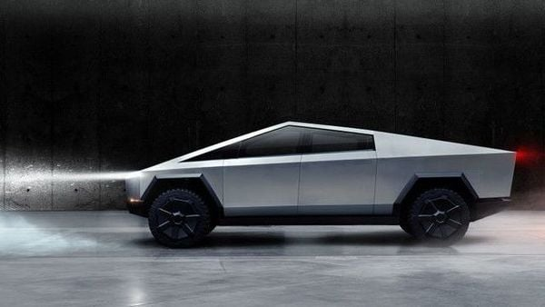 File photo of Tesla's first electric pickup truck. (via REUTERS)