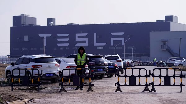 File photo: The gigafactory of electric carmaker Tesla Inc is seen in Shanghai, China December 2, 2019. REUTERS/Aly Song (REUTERS)