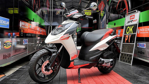Photo of Piaggio Aprilia SR 150 (Photo courtesy: piaggiogroup.com)
