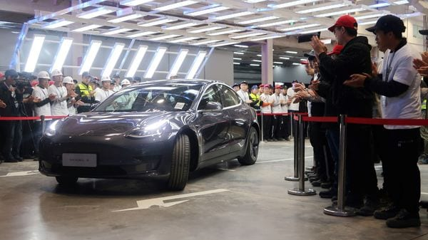 A China-made Tesla Model 3 vehicle is seen at a delivery ceremony in the Shanghai Gigafactory of the U.S. electric car maker in Shanghai, China December 30, 2019. REUTERS/Yilei Sun (REUTERS)