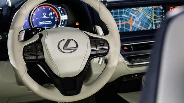 File Photo: The steering wheel and dashboard of a Toyota Motor Corp. Lexus LC 500 convertible vehicle. Photographer: Kyle Grillot/Bloomberg (Bloomberg)