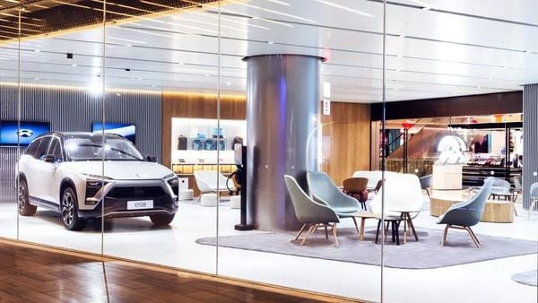 File photo of a NIO ES8 SUV inside a NIO House (Photo courtesy: nio.com)