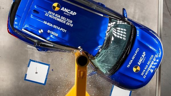 Photo of Kia Seltos undergoing crash tests by ANCAP SAFETY (Photo courtesy: ancap.com.au)