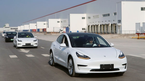 China-made Tesla Model 3 vehicles are seen at the Shanghai Gigafactory of the U.S. electric car maker in Shanghai, China December 30, 2019. REUTERS/Yilei Sun