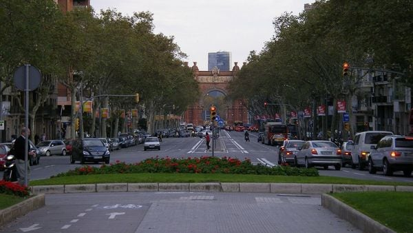 FILE PHOTO: Barcelona has banned older, polluting cars during most parts of the day