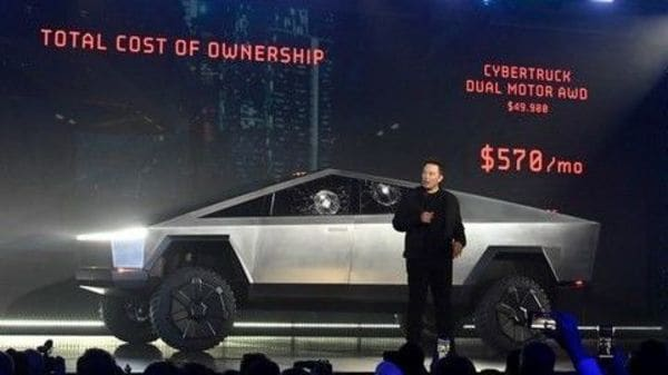 File photo from the launch event of Tesla Cybertruck. (Robert Hanashiro-USA TODAY via I)