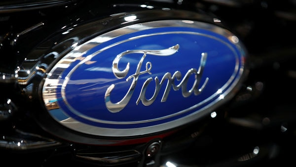 FILE PHOTO: Ford logo is pictured at the 2019 Frankfurt Motor Show (IAA) in Frankfurt, Germany September 10, 2019. REUTERS/Wolfgang Rattay/File Photo