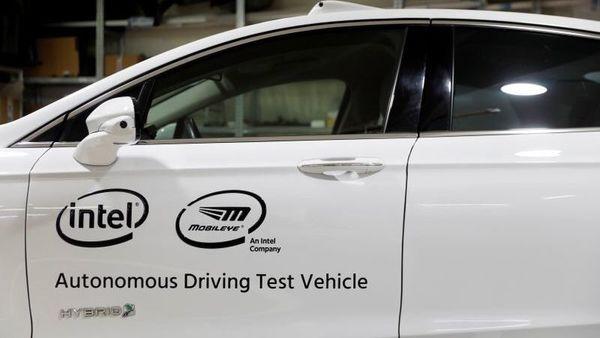 A general view of a Mobileye autonomous driving test vehicle. (REUTERS)