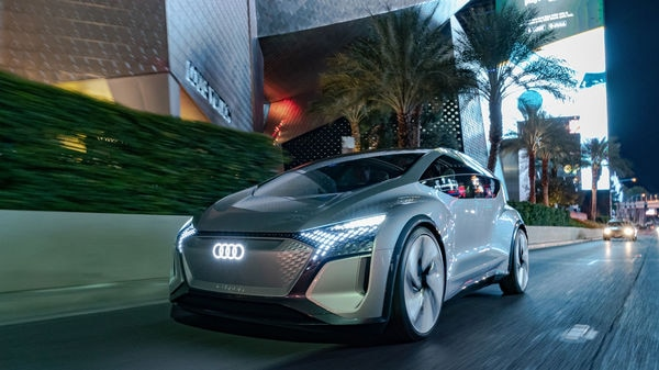 Audi displayed its futuristic vision vehicle - the AI:ME Concept car - at the CES 2020 event in Las Vegas. (Photo courtesy: audi-mediacenter.com)
