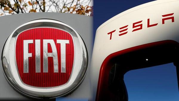 Photo of Fiat and Tesla logos