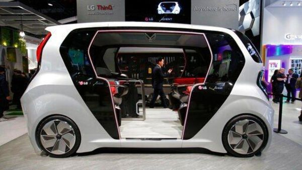 File photo of an LG connected self-driving electric car concept used for representational purpose. (AP)