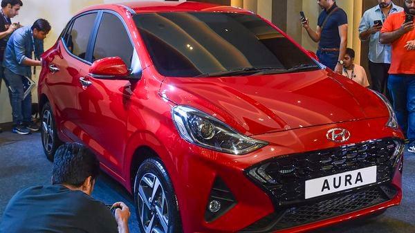 File photo of Hyundai Aura. (PTI)
