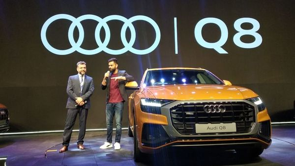 Virat Kohli (right) with Audi India head Balbir Singh at the launch of the Q8.