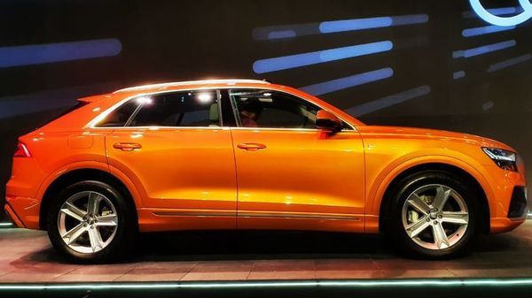 Audi Q8 has been launched in India at starting price of ₹1.33 crore. It is only available in petrol variant. (HT Auto photo)