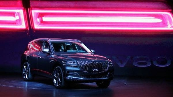Hyundai Motor Genesis GV80 SUV is seen during its unveiling ceremony in Goyang, South Korea, January 15, 2020. REUTERS/Heo Ran