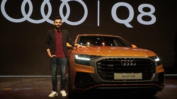 Virat Kohli at the launch of Audi Q8 in Mumbai.