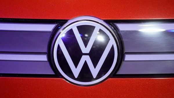 A Volkswagen logo is seen at a construction completion event of SAIC Volkswagen MEB electric vehicle plant in Shanghai, China November 8, 2019. REUTERS/Aly Song/File Photo