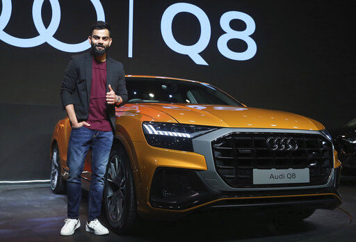 Kohli became the first in India to own the Audi Q8. (AP)