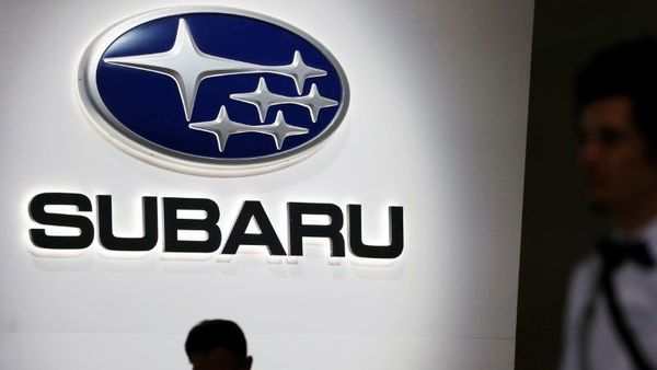 A Subaru logo is displayed at the 89th Geneva International Motor Show in Geneva, Switzerland March 5, 2019. REUTERS/Pierre Albouy/Files