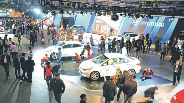 A file photo of the Auto Expo. Lobby group Siam has also asked the firms to think of ways to collaborate with it for the event.