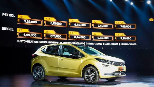 Altroz premium hatchback by Tata Motors on display during the launch in Mumbai. (PTI)