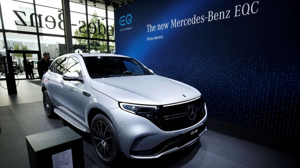 FILE PHOTO: A Mercedes-Benz EQC car is pictured during the preparations for the international Frankfurt Motor Show IAA in Frankfurt, Germany. (REUTERS)