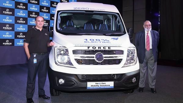 Chairman of Prasan Firodia-MD Force Motors Abhay Firodia (R) during an event in Pune. (PTI)