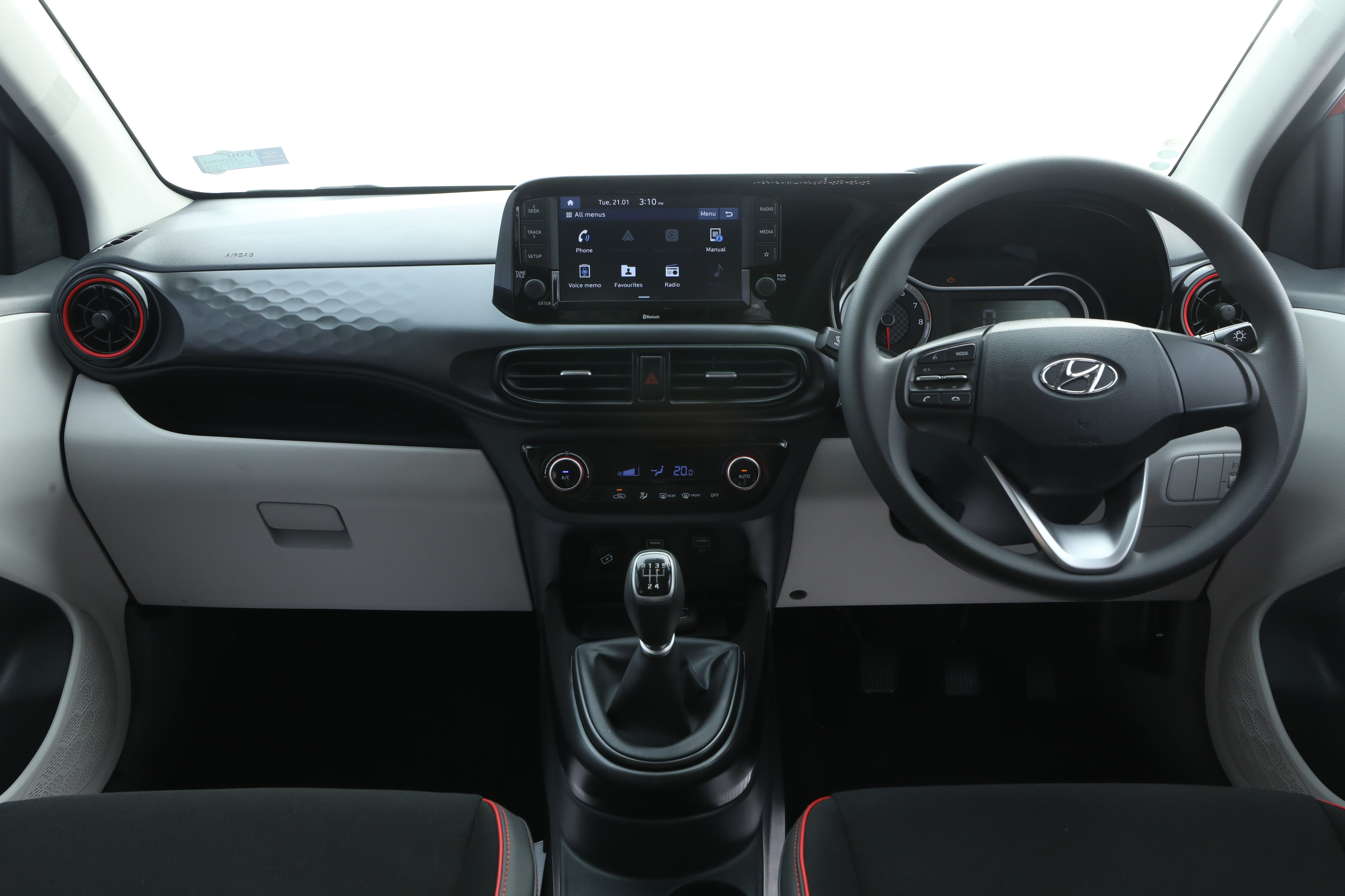 The cabin of the Aura gets an all-black treatment in the turbo version while the other versions feature a beige colour theme. There is a 20.25 cm touchscreen and a 13.46 cm digital speedometer with Multi Information Display.
